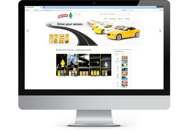 Langenstein Markencases: WUNDER-BAUM Website