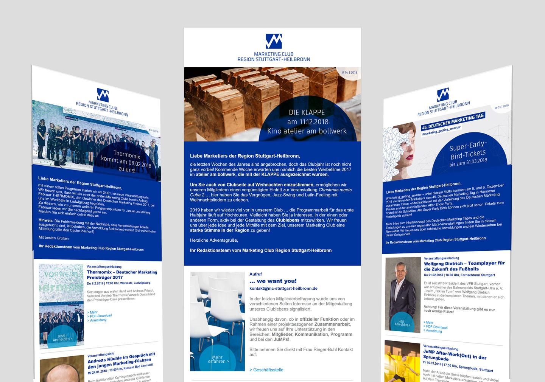 Langenstein Markencases: Marketing Club Newsletter