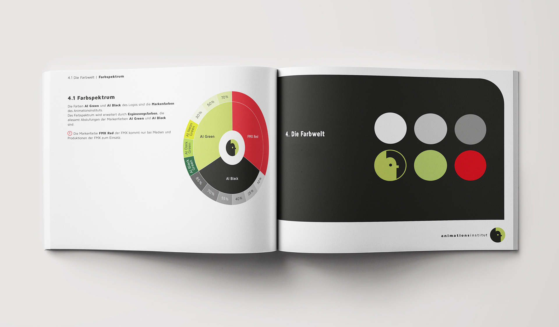 Styleguide für das Animationsinstitut Ludwigsburg - Farbwelt