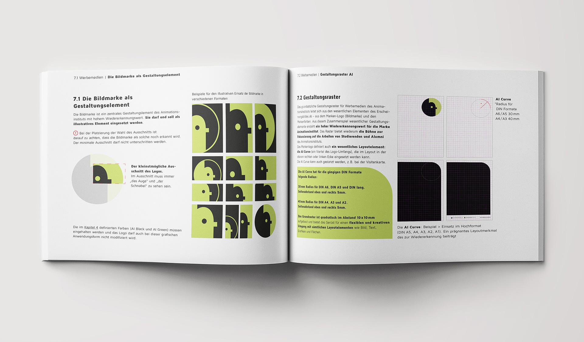 Styleguide für das Animationsinstitut Ludwigsburg - Gestaltungsraster